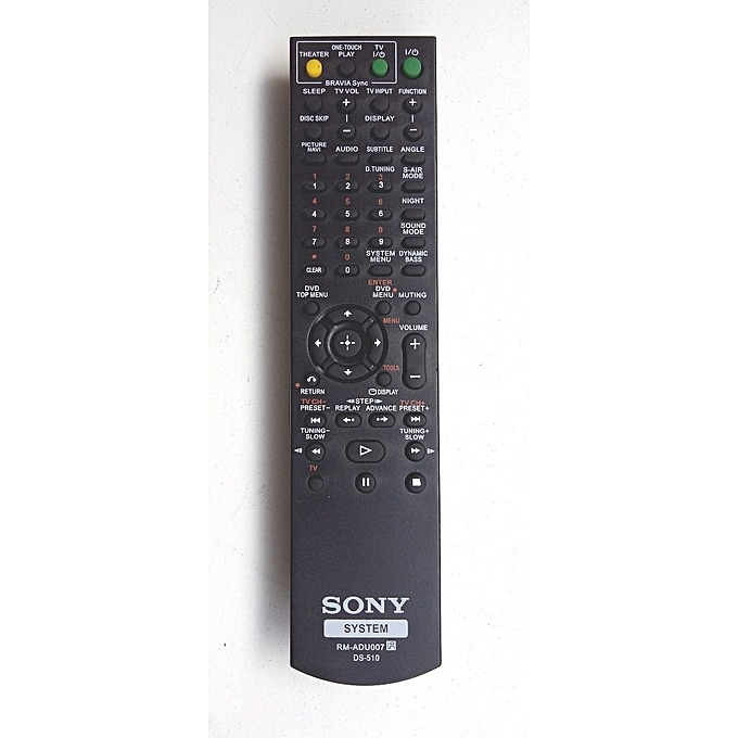 SONY Home Theater Remote control