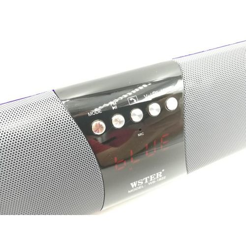 WS-1822 Portable Wireless Speaker, MP3 Player & Radio - RED