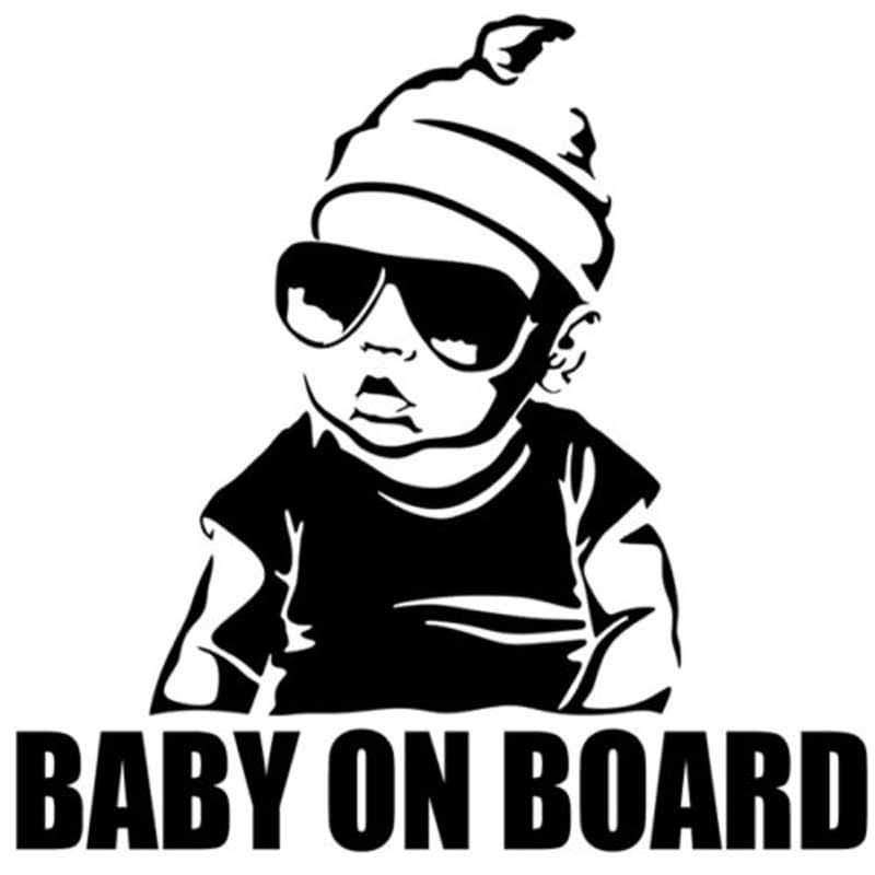 Baby On Board Cool Baby With Sunglasses Car Sticker Baby Safety & Health Ebay Motors