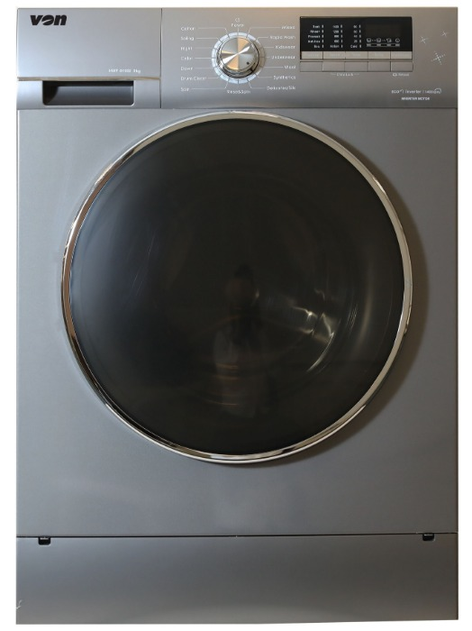 Von Washing Machine HWF-716SI/VALW-07FXK in Kenya Washing Machine, Front Load, 7KG, Inverter - Silver