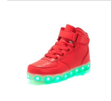 Kids Boys Girls LED Light up Shoes USB Charging Flashing Sneakers Trainers Gift