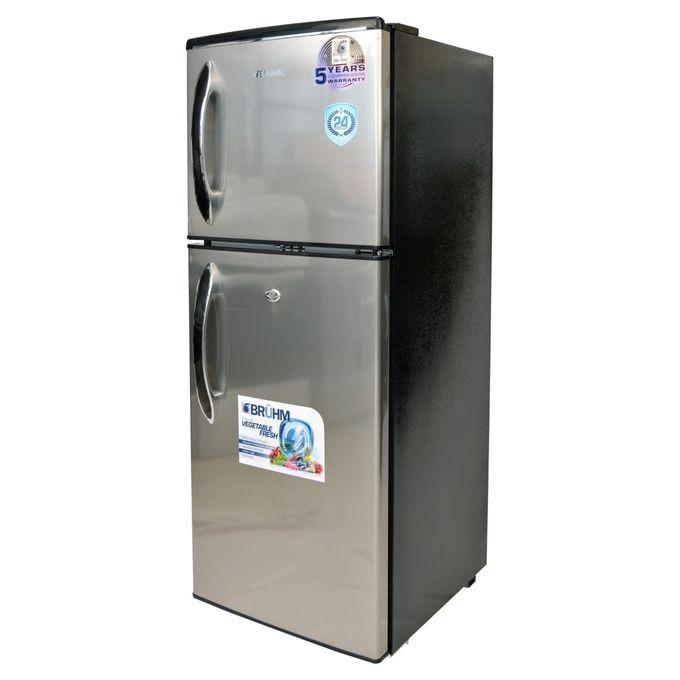 Bruhm BRD-140 Double Door Refrigerator - 120L - Inox